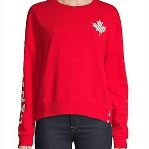 HBC  Womens Red Canadian Olympic Pullover Crop Top
